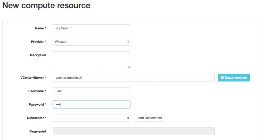 Adding Compute Resource