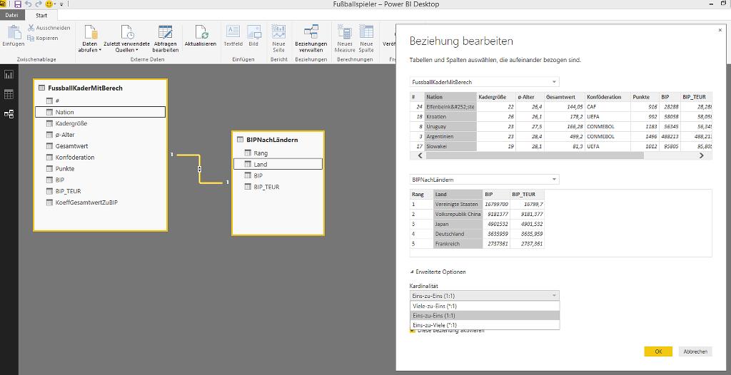 Power BI Desktop – Datenmodellierung