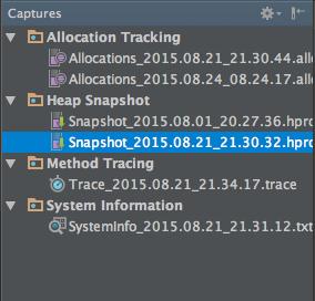 Captures Window in Android Studio 1.3