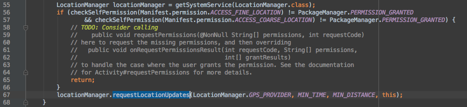 Runtime Permissions in Android Studio 1.3