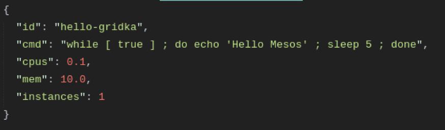 Simple code sample - hello mesos