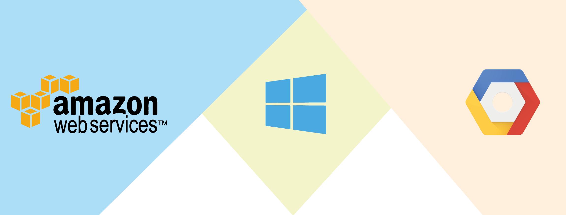 Die Icons von AWS, Azure und GCP
