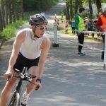 Benjamin beim Triathlon in Buchen