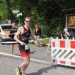 Patrick beim Triathlon in Buchen