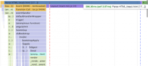 Another screenshot of the Chrome dev tools showing altered loading times