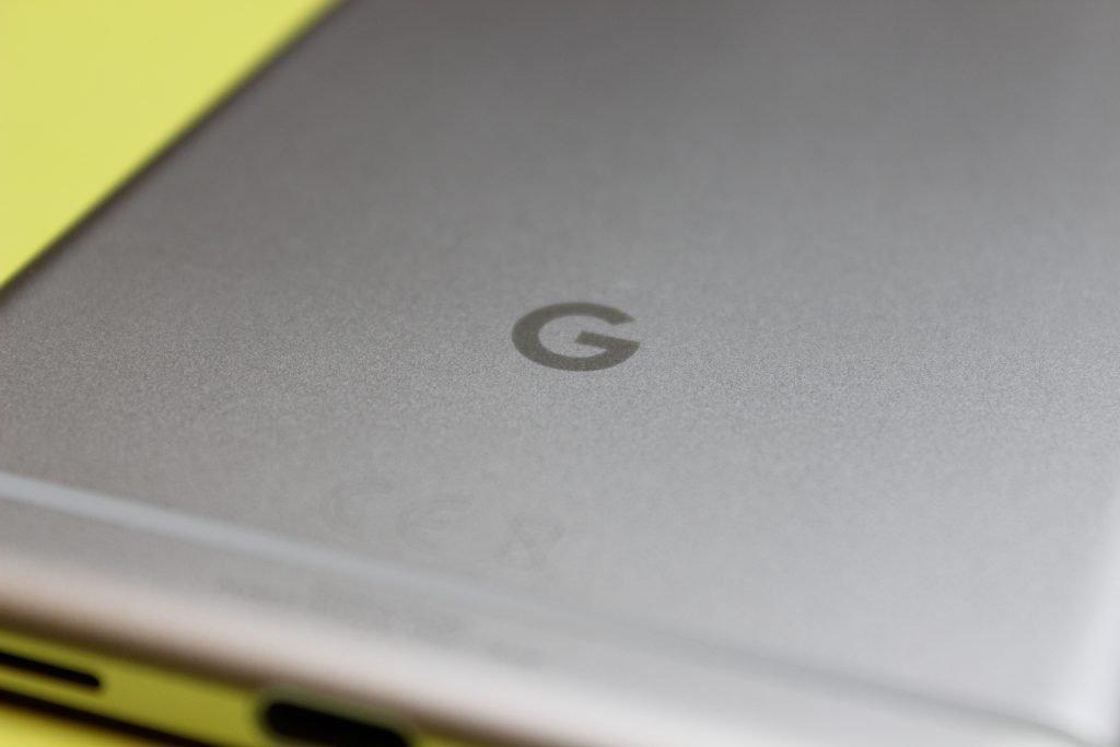 Das Rückseitige Google-Logo