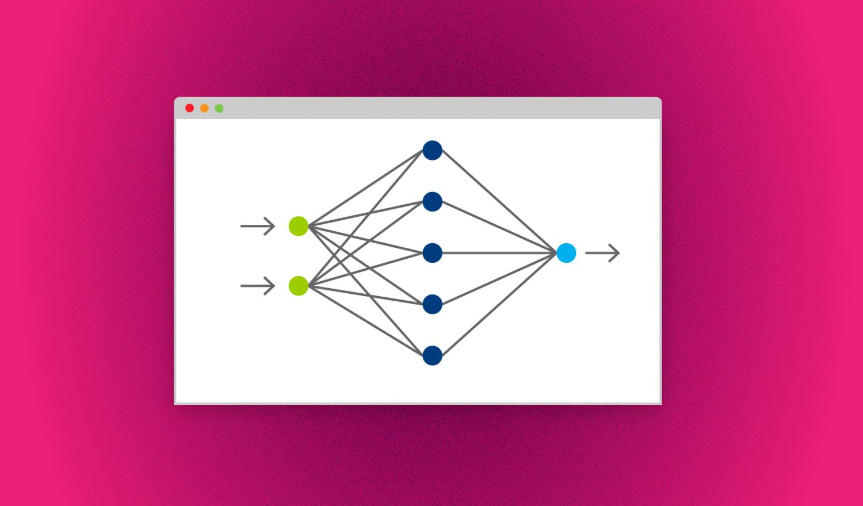 Ein neuronales Netz schematisch im Browser Headerbild