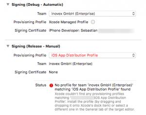 Abbildung von Zertifikat-Optionen