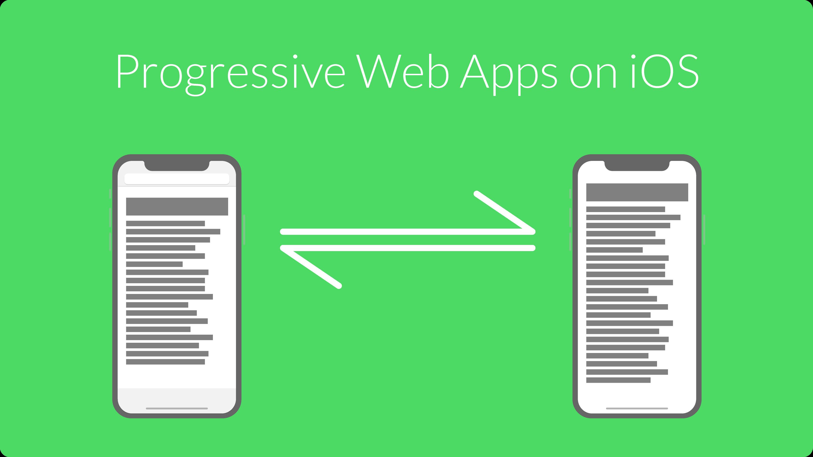 Progressive Web Apps on iOS – Headerbild zum Blogartikel