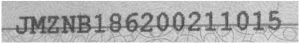 Distorted Vehicle Identification Number