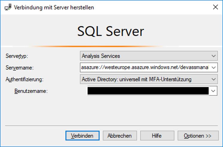 SQL Server Connection Screenshot
