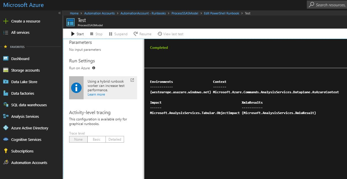 Final Working Azure Portal Screenshot