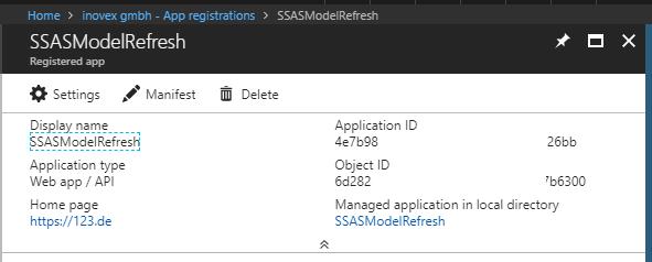 SSASModelRefresh Screenshot