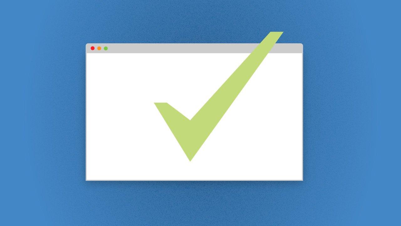 Digitale Qualität: Ein Häkchen im Browserfenster
