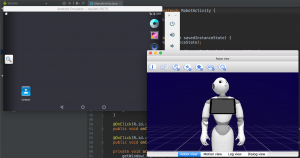 Screenshots of the components of pepper's new SDK