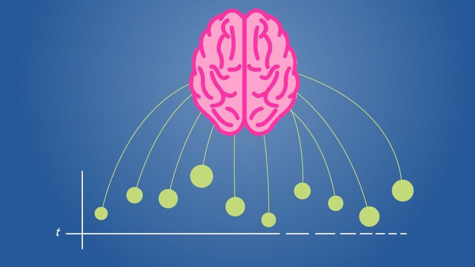 A brain sucking in data points