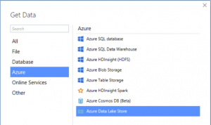 A screenshot of Azure Analysis Services connectors