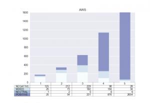 Das AWS-Modell zeigt schwächen bei gemischten/neutralen Rezensionen