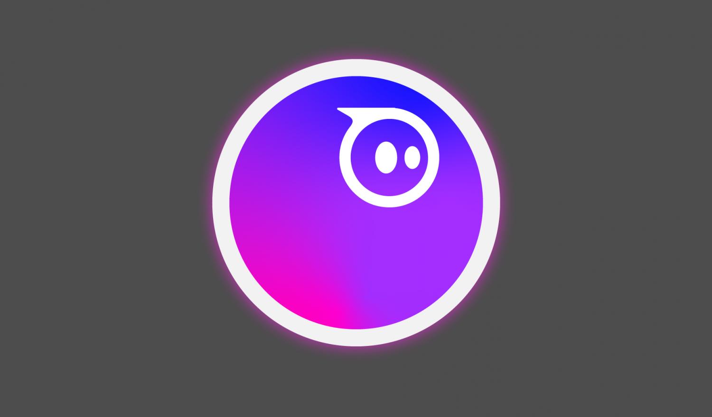 Ein leuchtender Ball mit dem Sphero-Logo