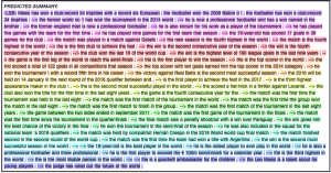 Predicted summarization of an extremely long text marked in different colors.