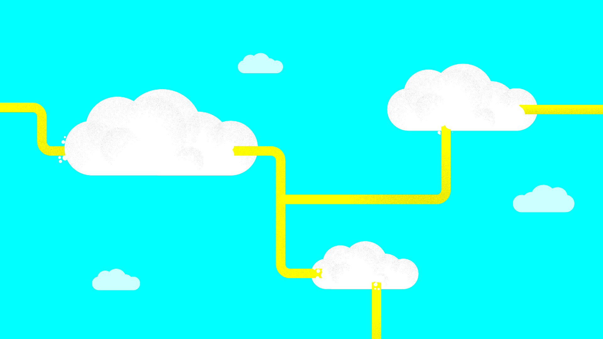 Pipes leading through the clouds