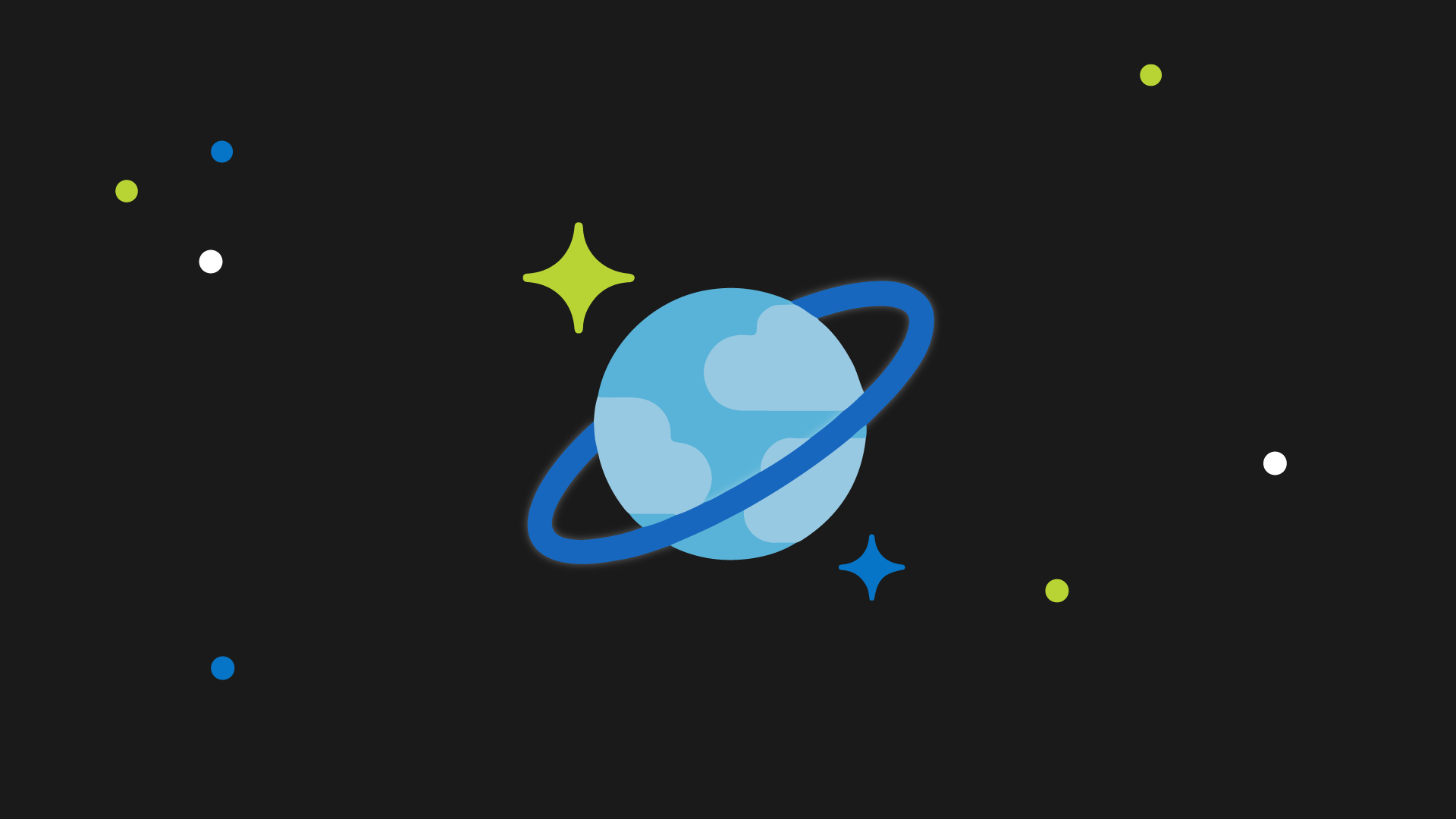 The CosmosDB planet logo in space