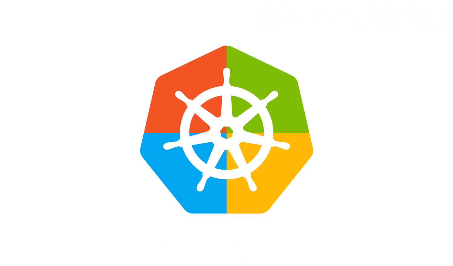 The Kubernetes Logo in Windows colors