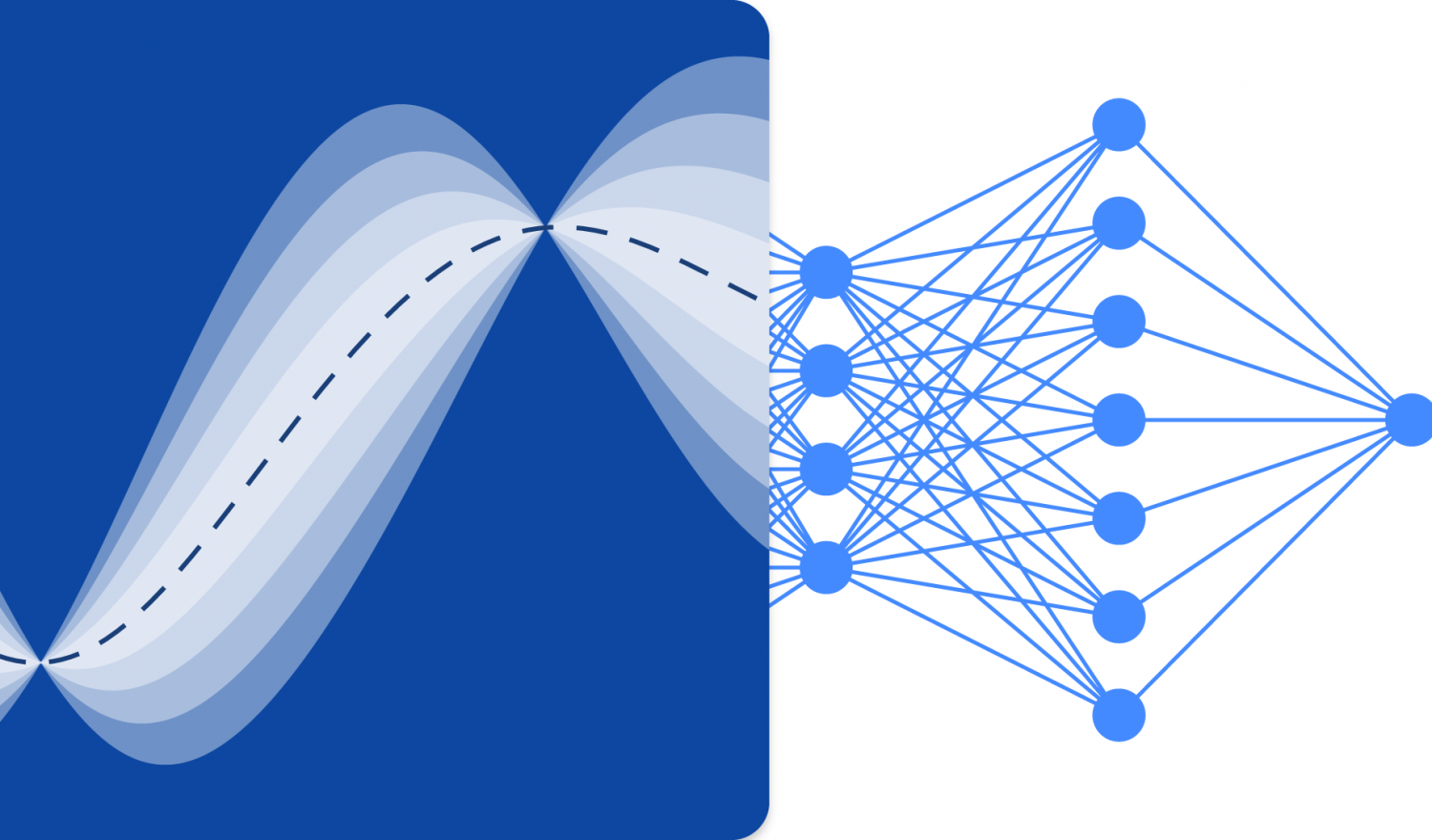Gaussian inference overlapping a neural network