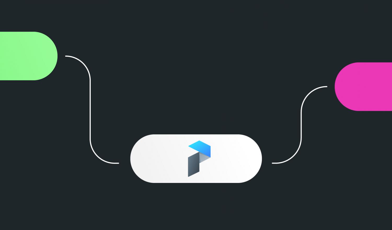 Ein stilisierter Flow Chart mit dem Prefect Logo