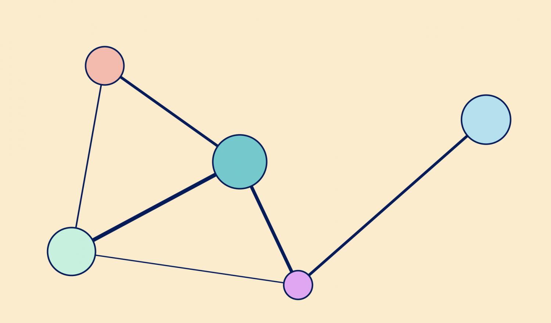 A stylized socialvistum graph