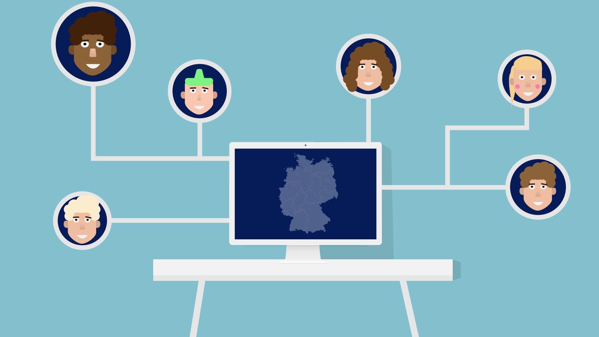 Verschiedene User im Netzwerk verbunden