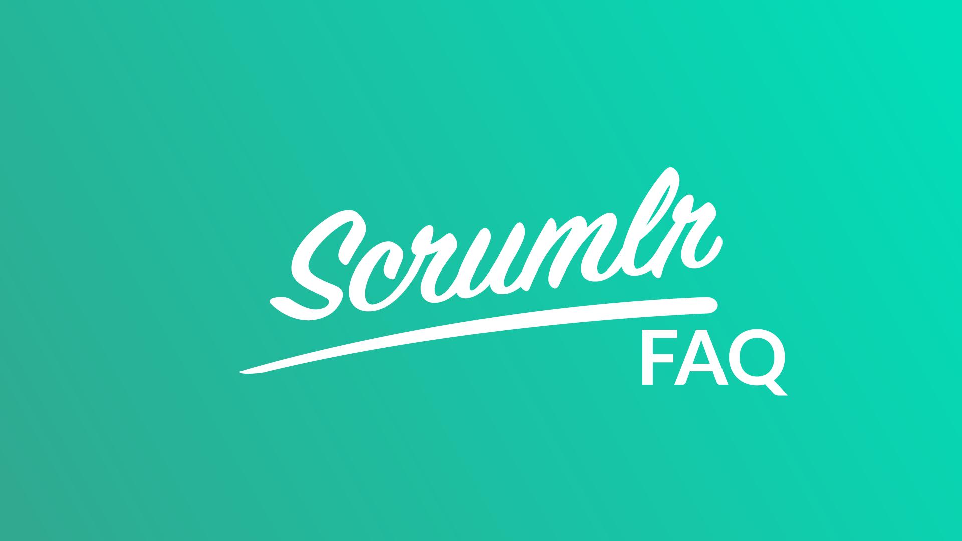 Scrumlr FAQ Logo auf Türkis