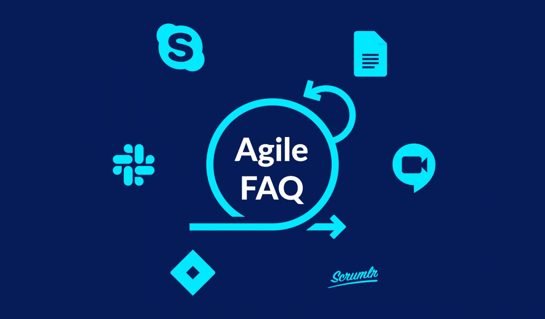 Agile Vorgehensweisen mit Tool-Symbolen im Kreis angeordnet