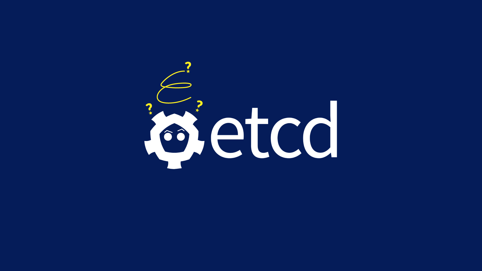 The etcd logo with raised eyebrows