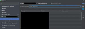 Picture of more settings in PyCharm Professional