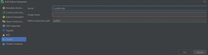 Picture of Interpreter Channel in PyCharm Professional