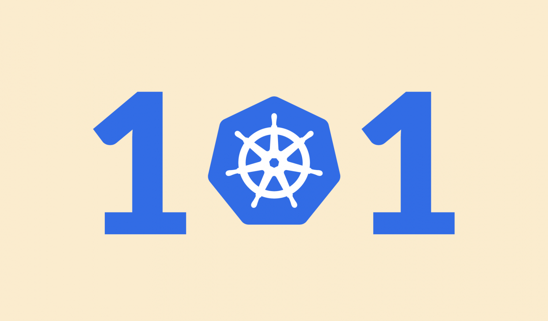 Kubernetes Networking 101 und die 0 ist das Kubernetes-Logo.
