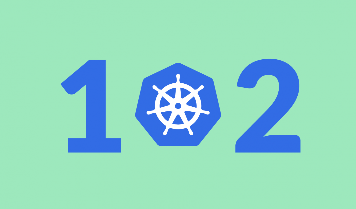 Kubernetes Networking 102 with the Kubernetes Logo as the 0