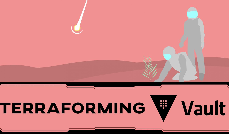 Two astronauts terraforming a planet