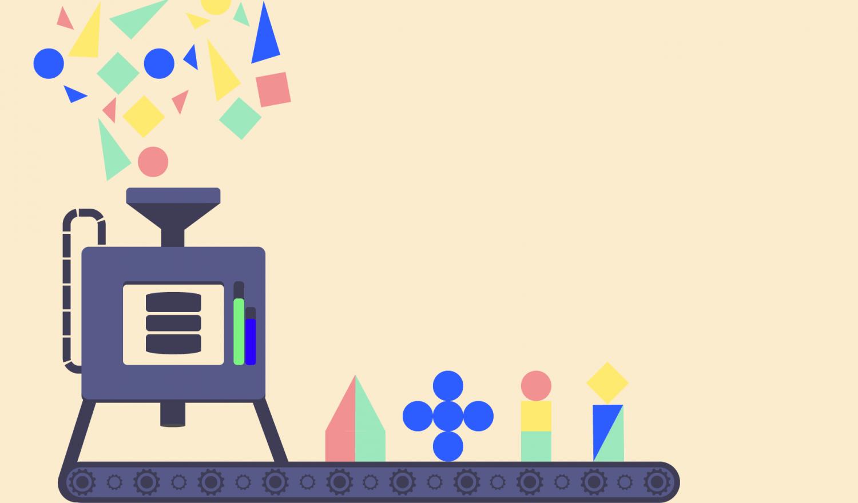 A machine assembling features from un-organized iinput