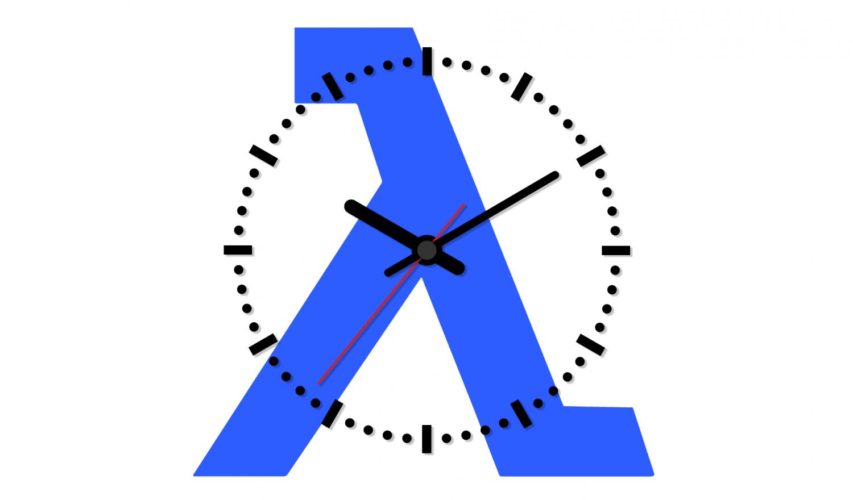 A clock on the sign lambda