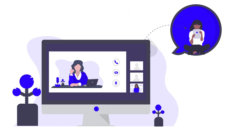 Remote virtual trainings on a screen