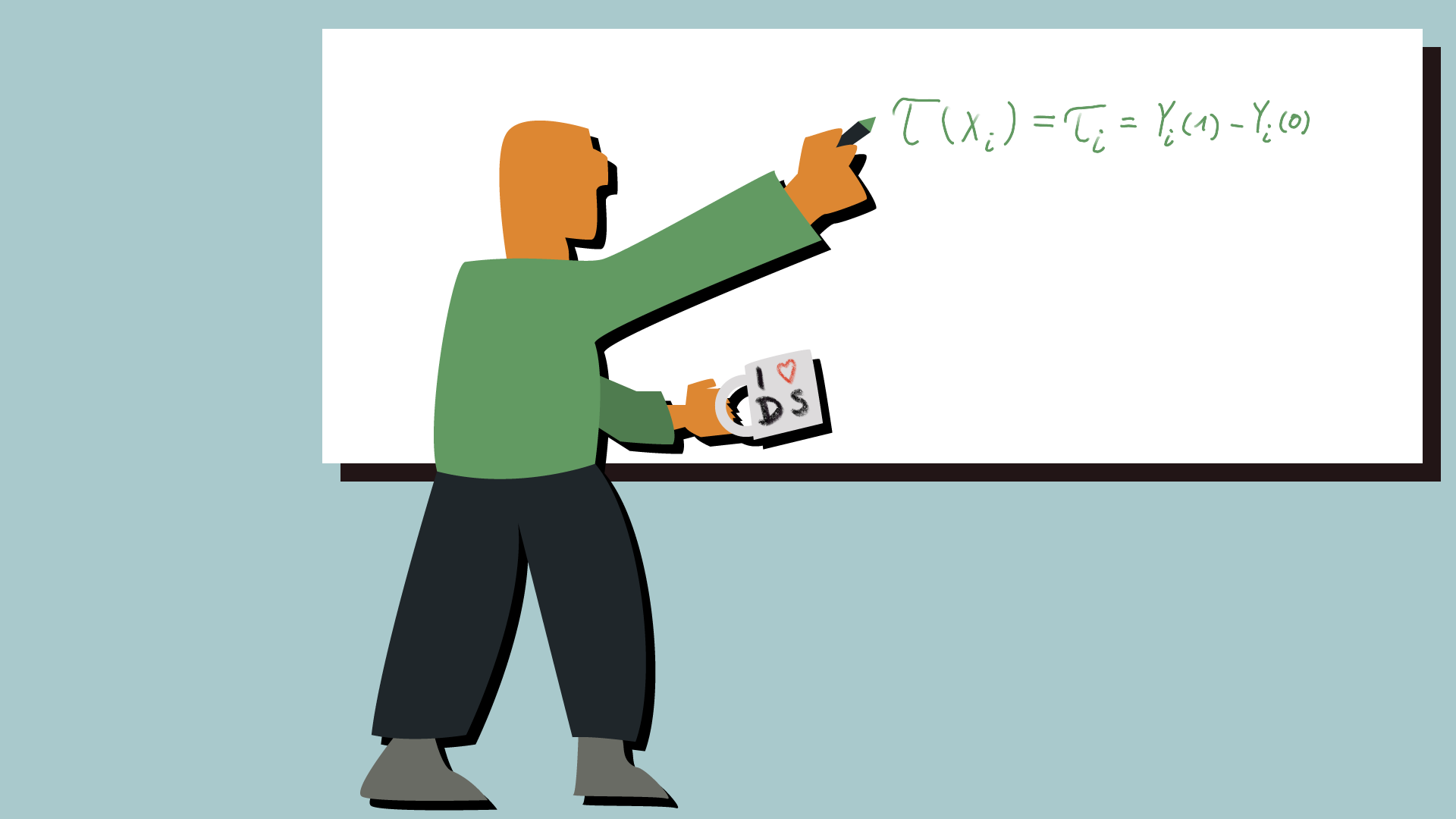 Ein Data Scientist am Whiteboard