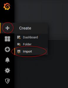 Screenshot: Dashboard hinzufügen in Grafana