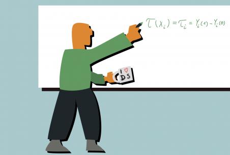 Illustration eines Data Scientist