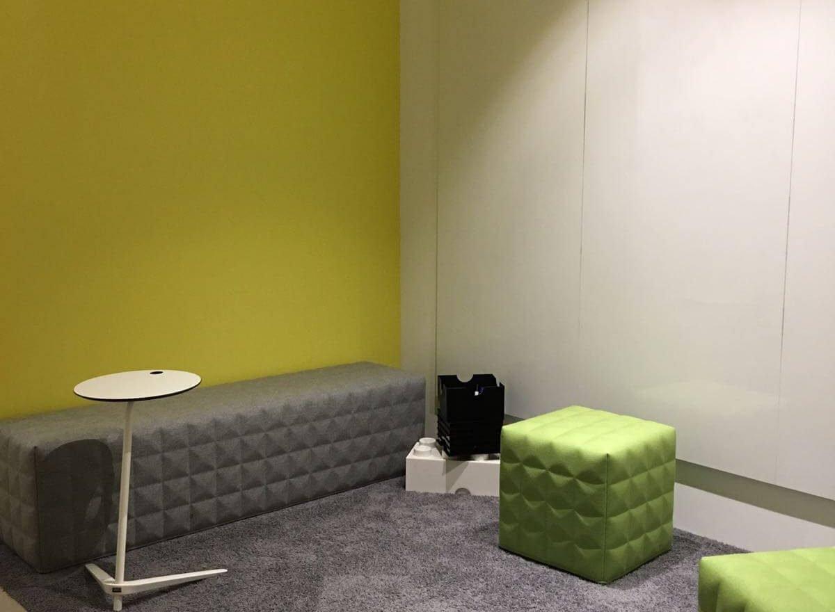 Ideenecke im Office Hamburg.