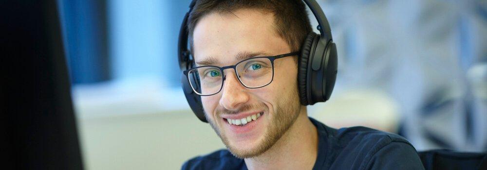 Portrait von einem Mitarbeiter