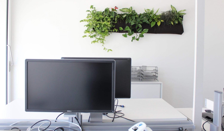 Ein kleiner Büroraum im Office München
