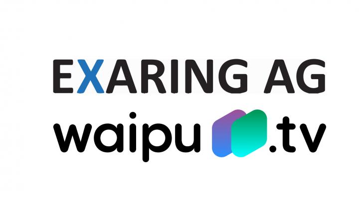 Die Logos der Exaring AG und von waipu.tv