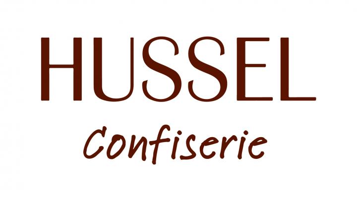 Das Logo der Hussel Confiserie